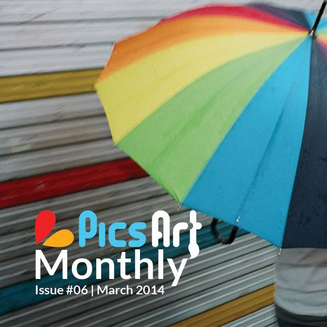 March issue of PicsArt Monthly Online Magazine