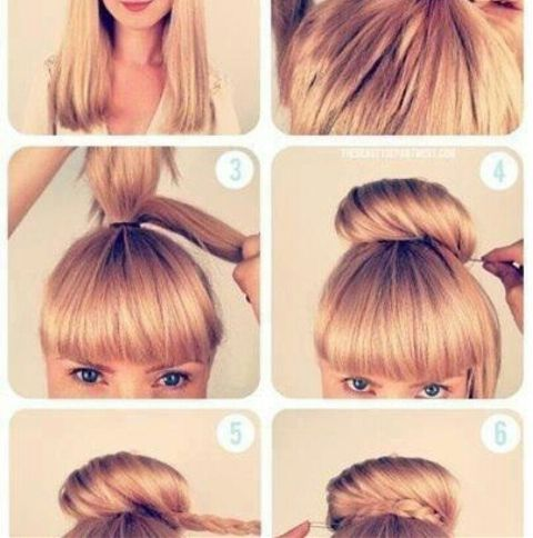 Причёска без чёлки на каждый день
