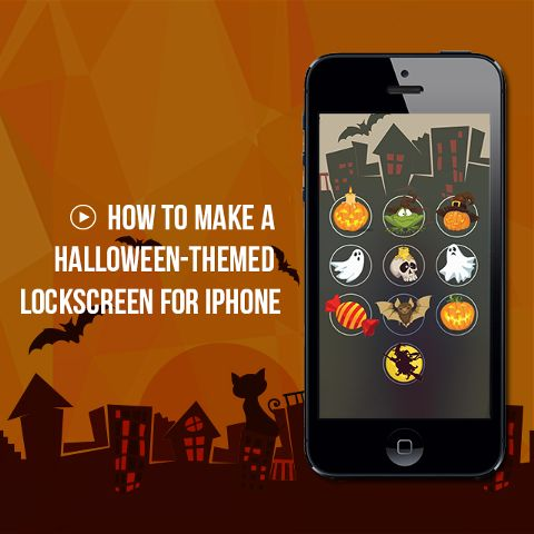 Halloween Lock screen tutorial for Iphone