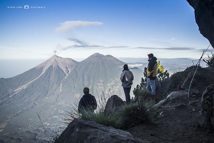 guatemala volcanoes nature landscape climb