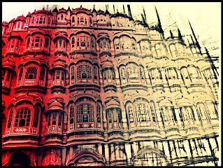 india jaipur hawamahal travel color