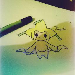 jirachi pokemon drawing art lineart