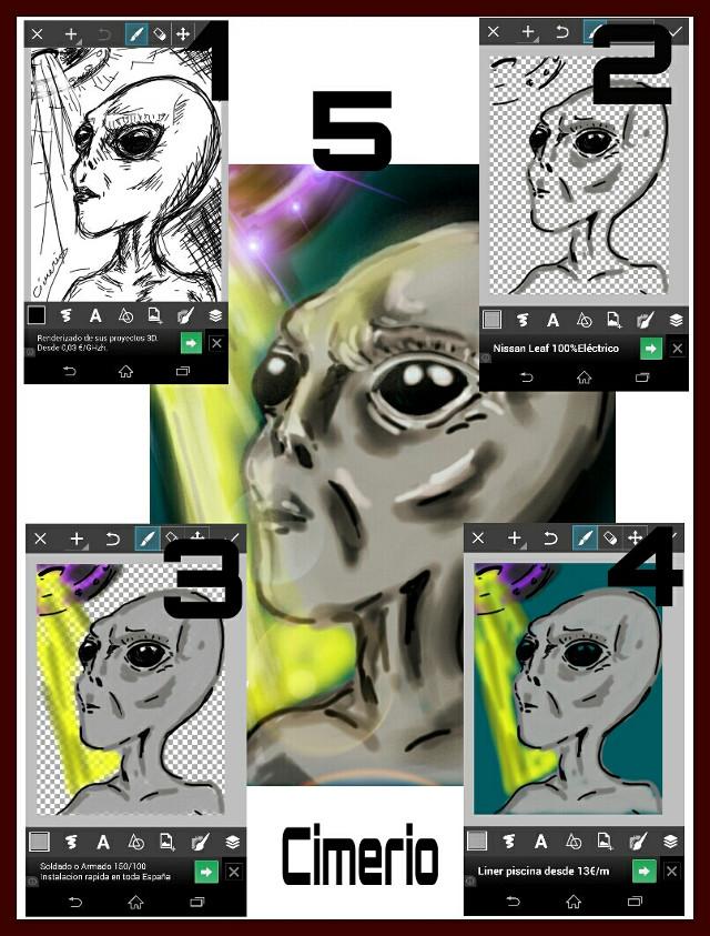 #drawstepbystep Alien 2