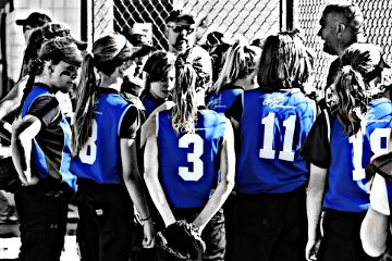 color splash photography people sports softball