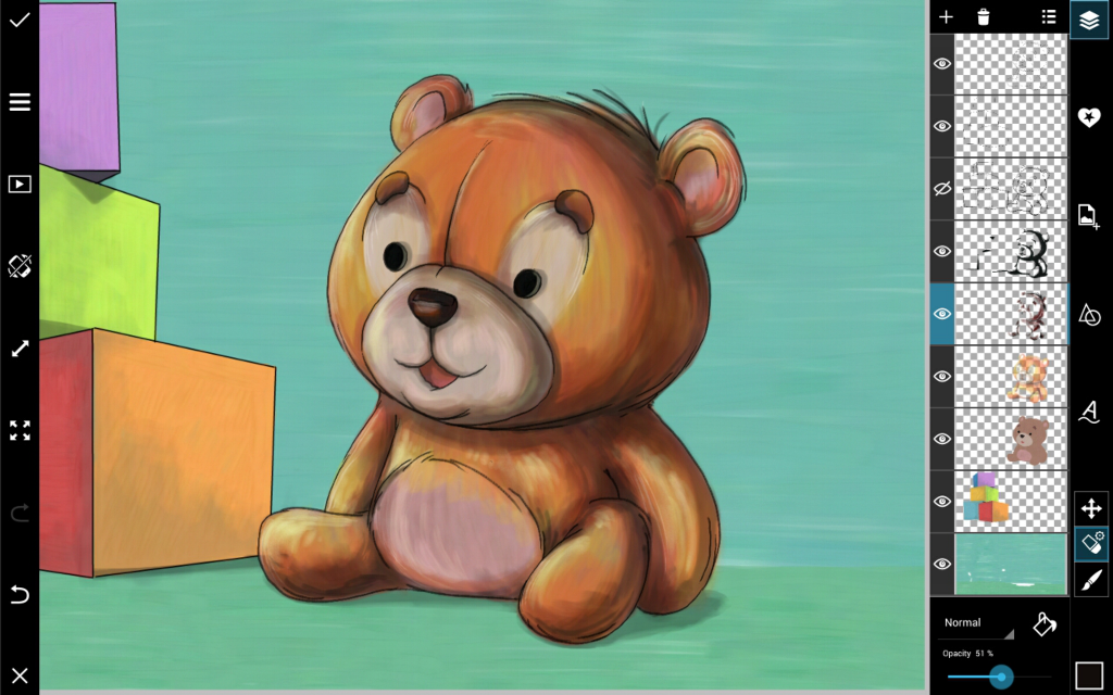 how to draw teddy bear step by step