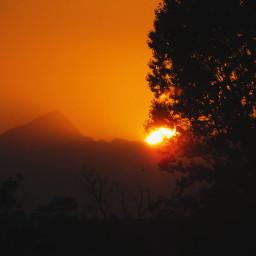 sunset albania nature waporange