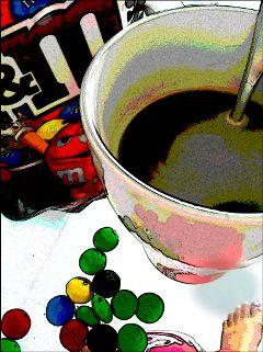 café morning m&m's parfait