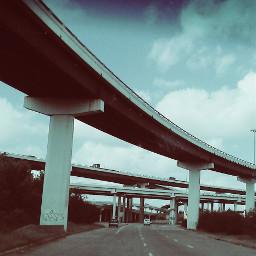 freeways sky clouds vintageivory cars