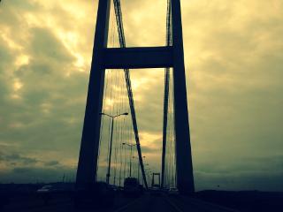 istanbul bridge sky