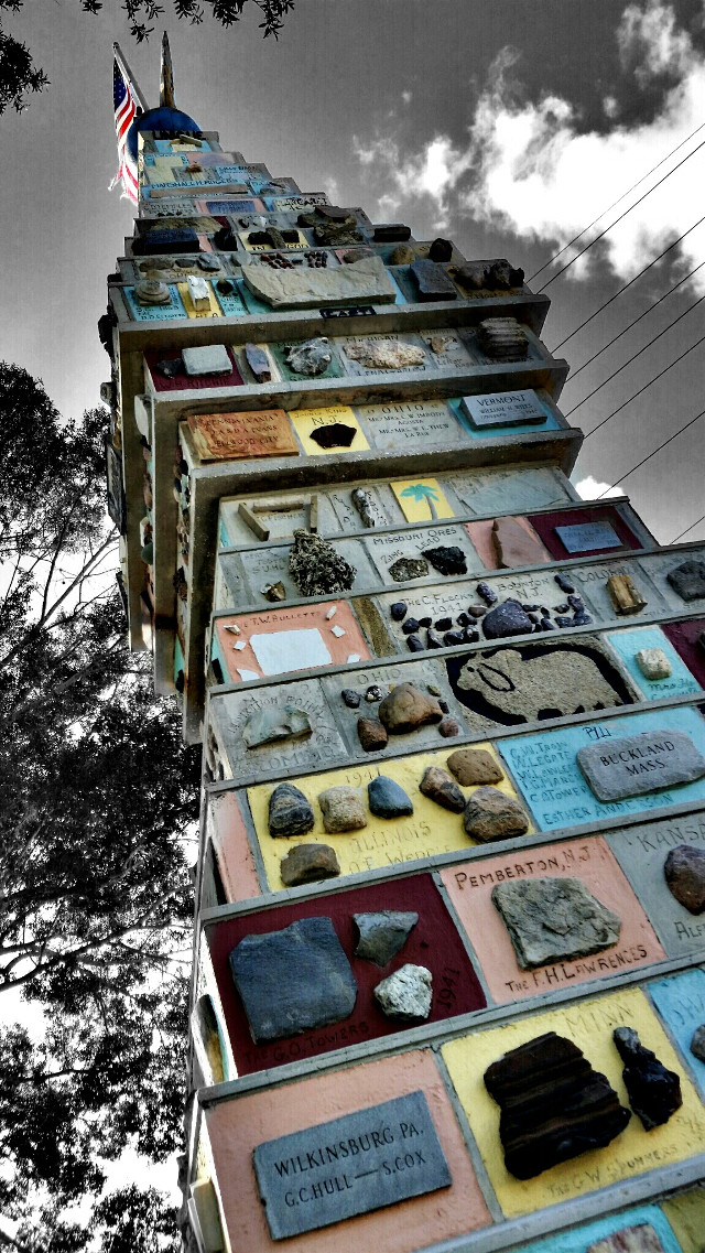 monument of states. .... contains various pieces of rocks from every state.     #color splash #photography #travel #byebyesummer #emotions #fall