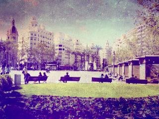 valencia spain plaza travel beautiful