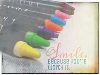 colorful crayons smile photography