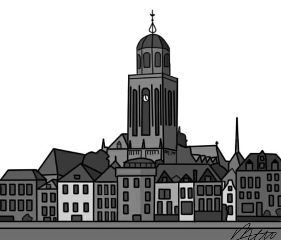 drawing deventer cityscape nobodycares dccityscape