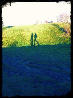 shadow people walk cute travel