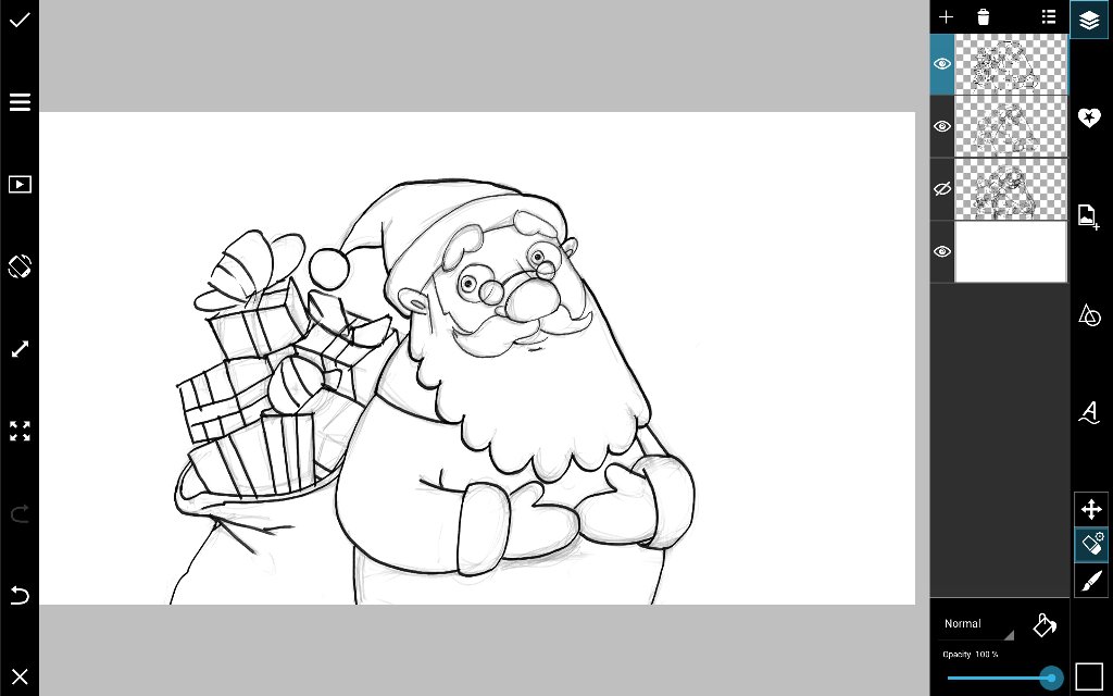 Santa drawing tutorial